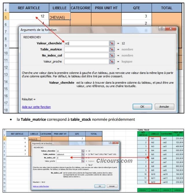les fonctions de recherche Excel
